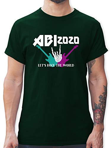 Abi & Abschluss - Lets Rock - Abi 2020 - M - Dunkelgrün - L190 - Tshirt Herren und Männer T-Shirts