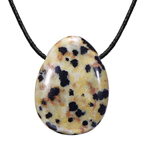 Morella Collar para Mujer 80 cm y Colgante de Gema en Forma de Gota en Bolsa de Terciopelo