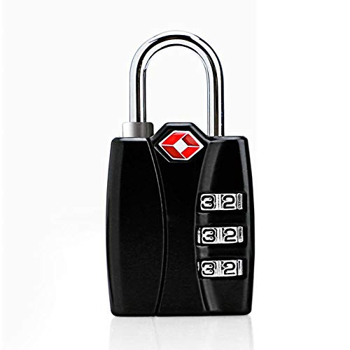 Candado de combinación inteligente Master Lock para equipaje de viaje, maleta, candado con código antirrobo-Negro