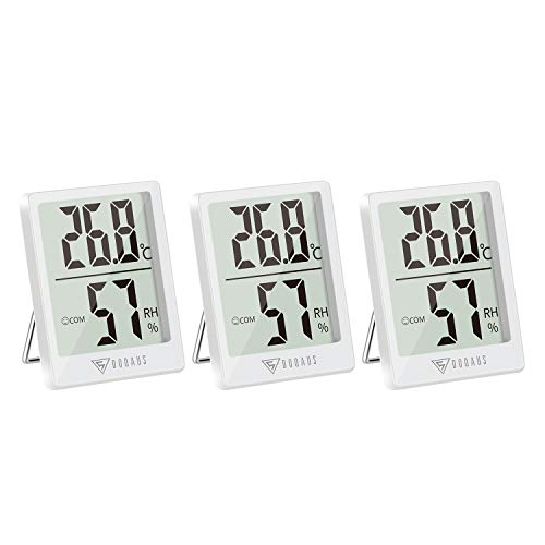 DOQAUS Indoor Thermometer Hygrometer 3 Pack, Digital Room Thermometer,...