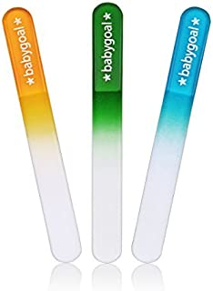 Babygoal Newborn Nail File Baby Nail Files 3 Pack with a Pouch,Genuine Czech Float Glass, Perfect Shower Gift for Newborns,Toddlers,Infant, Babies &Young Children, Baby Shower Gift 3NF02