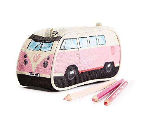 VW Volkswagen T1 Camper Van Pencil Case - Pink - Multiple Color Options Available