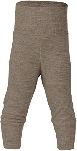 Engel Natur, Baby Bekleidung, Hose breiter Bund, 1 Stück, 70% Wolle, 30% Seide (Walnuss, Gr. 50-56)