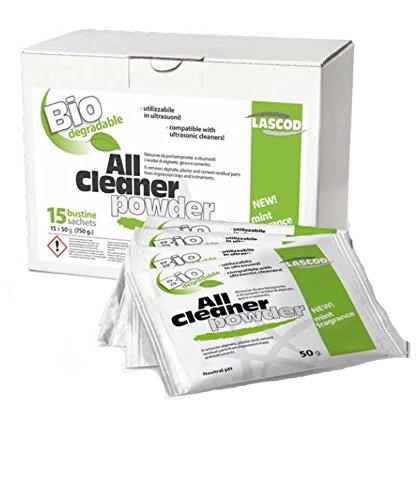 All Cleaner lascod–Reiniger für Rückstände von Gips, Alginat und Beton Zahnpflege 15Beutel x 15Liter-Lösung