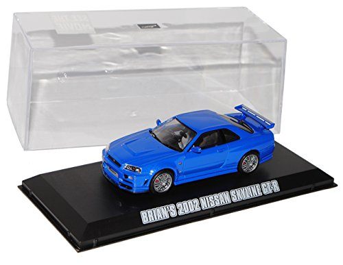 Greenlight Nissan Skyline R34 GT-R Blau 1998-2002 Brian O Connor Fast and Furious 1/43 Modell Auto