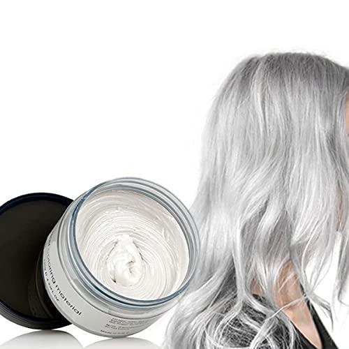 Haarfarbe Wachs Instant Haarfärbemittel Einweg-Haarschlamm Natürliche Frisur Creme 9 Farben optional Styling Haarwachs Emporäre Haarcreme Unisex Temporäre Modelliermasse...