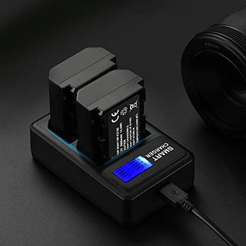 Evonecy Cargador Doble, con Cable USB Cargador de batería para cámara, para Actividades al Aire Libre NP-FZ100