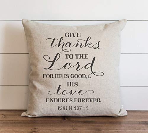 His Love Endures - Funda de almohada para sofá, banco, cama, decoración del hogar, 26 x 26 pulgadas