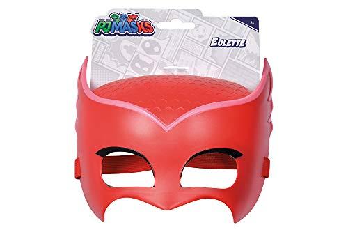 Simba 109402092 - PJ Masks Maske Eulette / mit elastischem Gummiband / zum Verkleiden/ rot / 20cm, für Kinder ab 3 Jahren