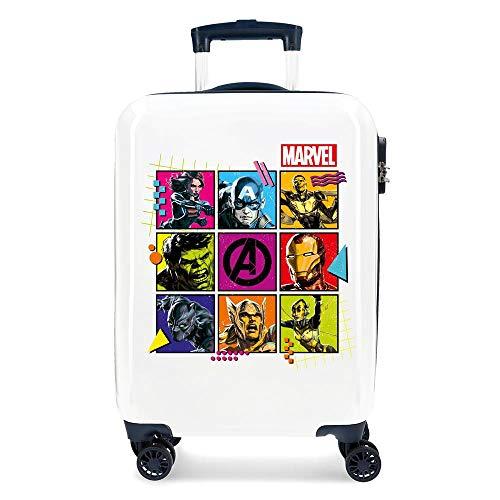Marvel Los Vengadores Comic Maleta de cabina Multicolor 38x55x20 cms Rígida ABS Cierre combinación 34L 2,6Kgs 4 Ruedas dobles Equipaje de Mano