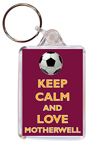 Keep Calm and Love Motherwell - Double Sided Large Keyring Football/FC Themed Gift/Souvenir/Present/Name Tag