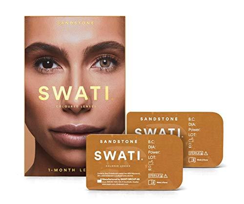 Sandstone (Braun) - 1 Monate Kontaktlinsen Farbig - SWATI Cosmetics Natürlich Aussehende Kontaktlinsen