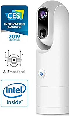 Sticker-Eye 1080p Indoor/Outdoor Wireless Smart Home Camera IP54 Weather Resistant with Night Vision, 2-Way Audio, Built-in Person Detection and Face Recognition, One Pack, White