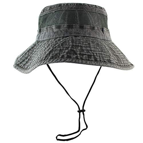 ZZDH Sombrero Pesca Malla Transpirable Sombreros solares para Mujeres Hombres Alto Exterior Protección UV Pesca Playa Senderismo Sol Pescador Sombrero (Color : Army Green)