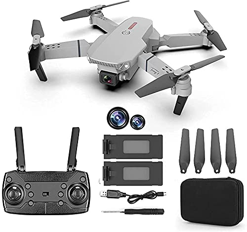 Mini Drone with Dual 4K HD FPV Camera for Children Quadricopter RC Foldable with Altitude Maintenance Sparkling Speed Adjustment 3D Includes Bag For Transport