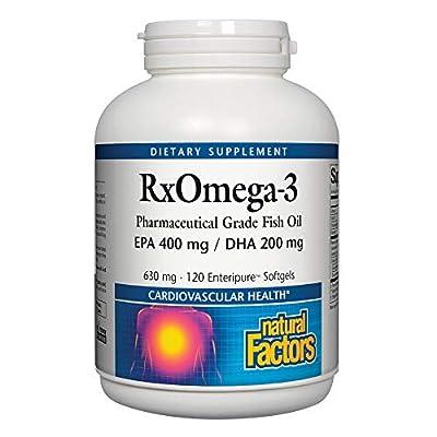 Natural Factors Extra Strength Rx Omega-3 Factors 120 (EPA 400mg, DHA 200mg, 120 Softgels )