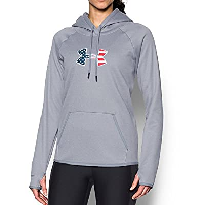 Under Armour UA BFL Icon Hoodie True Gray Heather/Blackout Navy LG (US 12-14)