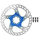 AMONIDA Freno de Disco de Bicicleta de montaña de 7.1 Pulgadas, Freno de Disco de Metal Ligero antirrayas Negro/Rojo/Azul/Dorado/Colorido, Accesorio de(Blue)