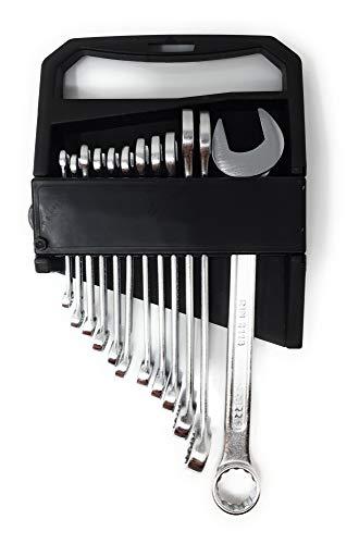 Toolzy 100190 Gabelschlüsselsatz 12 tlg 6-22 mm Satz Ringmaulschlüssel metrisch Gabelringschl.Satz Ring Maulschlüsselsatz Maulringschlüssel Satz