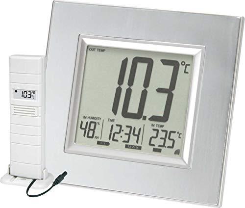 Technoline Wetterstation WS 8301-IT Außensender mit Kabelsonde, Uhrzeitanzeige sowie Innen- und Außentemperaturanzeige