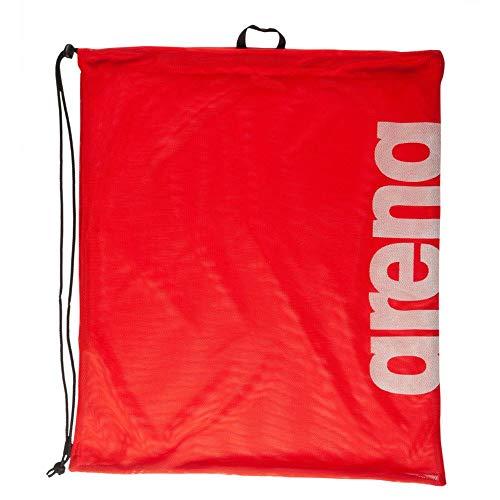 Arena - Sacca da nuoto per adulti in rete, Unisex - Adulto, Sacchetto sportivo, 002495, Team rosso., Taglia unica