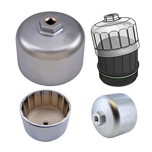 KingBra 86 mm Schraubenschlüssel-Filtergehäusekappen, Aluminium-Kartuschen-Stil, Ölfilter mit 16 Rillen