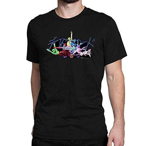 GOOD COME FROM Men's Death Parade Logo Short Sleeve T Shirt Black