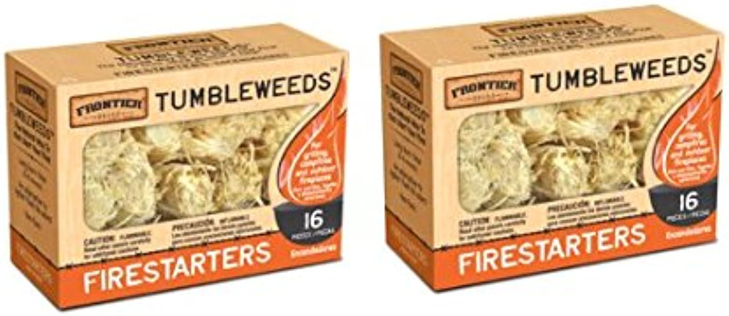 Frontier Tumbleweed Natural FireStarters  2 Boxes of 16