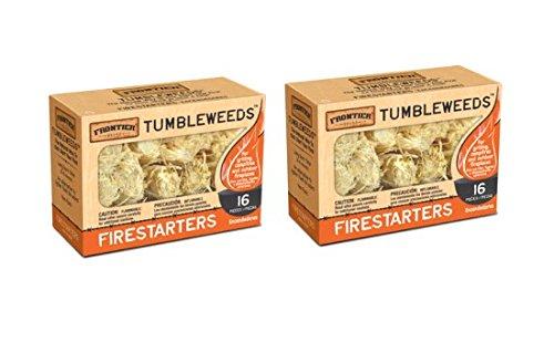 Frontier Tumbleweed Natürlicher Feuerstarter – 2 Boxen mit je 16 Stück