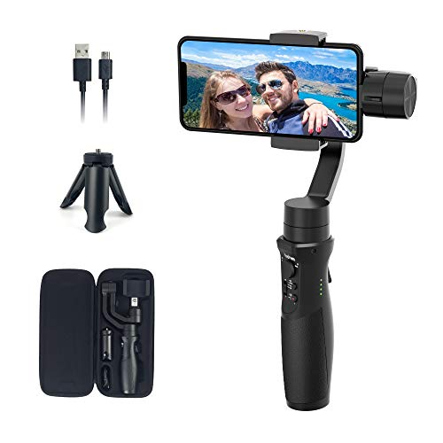 Gimbal Stabilizer for iPhone 11 Pro/Xs/XR Android Smartphone Gimbal, for Vlogger Youtuber Live Video Sports Inception Mode Face Object Tracking Motion Timelapse Hyperlapse, hohem iSteady Mobile Plus