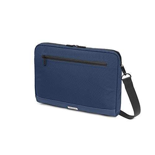 Moleskine - Cartera para Dispositivos electrónicos, para Ordenador portátil, Notebook, iPad y Tablet hasta 13'', Impermeable, tamaño 35 x 26 x 4 cm, Azul Zafiro