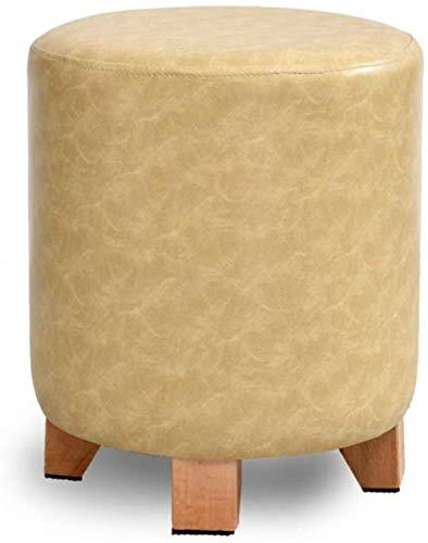 Kruk persoonlijkheid massief hout leer sofakruk woonkamer kleine lage modeschoen wandelschoen mode