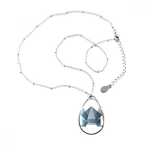 DIYthinker Origami Rana Abstracto Geométrico Forma Lágrima Forma Colgante Collar Joyas con Cadena decoración Regalo