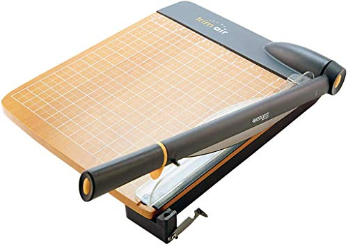 Westcott 18'' TrimAir Anti-Microbial Wood Guillotine Paper Cutter & Paper Trimmer, 30 Sheet (15108)