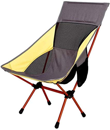 GSWF_OOEFC ZXCY Muebles de jardín al Aire Libre Silla de Camping Plegable con Respaldo Sillas de Cubierta de Pesca portátiles Tumbona de jardín Silla de Playa con Bolsa de Transporte