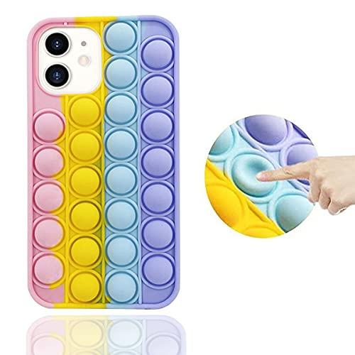 Fidget Toys Carcasa de Telefono Compatible con iPhone 11, Funda Silicona Case para iPhone Fidget Toy Pop It Bubble Anti-Stress Carcasa Protectora para iPhone 11