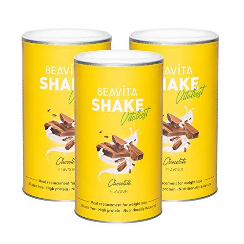 Pasti sostitutivi - Smoothie dimagranti al gusto Vanilla Original 3x 500 g – Frullato pasto dietetico per perdita e controllo del peso – Risparmia calorie con una dieta attiva e sana – da BEAVITA