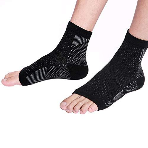 FLYFLY Gear Sport Calcetines Fascitis Plantar, Las Mejores Medias compresión Hombre y Mujer para aliviar el Dolor de pies, Calcetines compresión para Mejorar la circulación, Medias de compresión