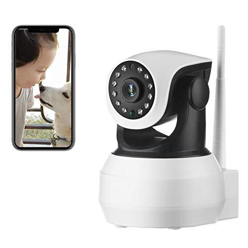 AINSS Cámara de Seguridad Interiores,Cámara de vigilancia IP WiFi,CCTV PTZ 1080P HD bebés Monitor,visión Nocturna,detección de Movimiento,Alarma,Control Remoto,Voz bidireccional (Cámara WiFi)