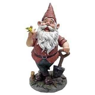 Garden Gnome Statue Birdy Spader