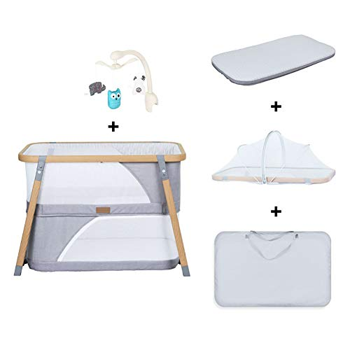Affordable HLR-Travel Beds Portable Fold Crib Travel, Multifunction Bionic Two Layers Newborn Game B...