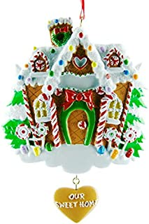 Paintings Frames Personalised Christmas Tree Ornaments-Gingerbread House-Get Your Desired Names On The Items-Single Product