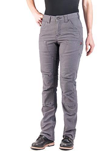 Dovetail Workwear Utility Pants for Women - Britt Utility Straight Fit Stretch Cargo Pant, Dark Grey...