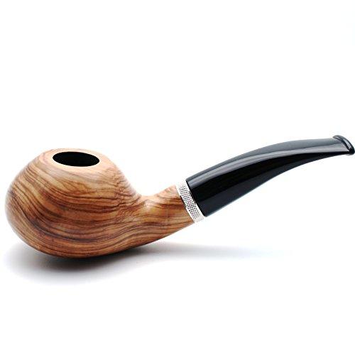 Mr. Brog Handmade Smoking Tobacco Pipe - Model No. 148 Louche Natural - Briar Wood