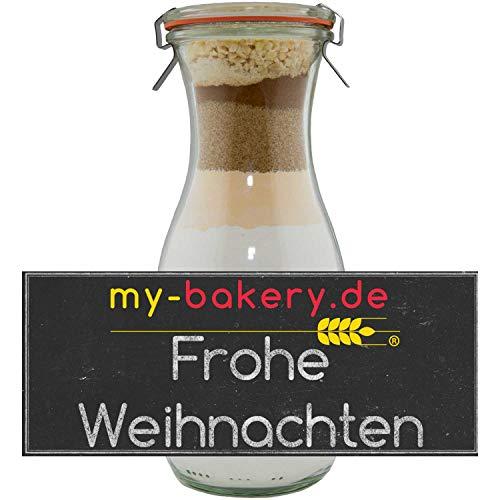 Backmischung Frohe Weihnachten im Glas - Honig-Lebkuchen (26,12€ / kg) - Geschenk