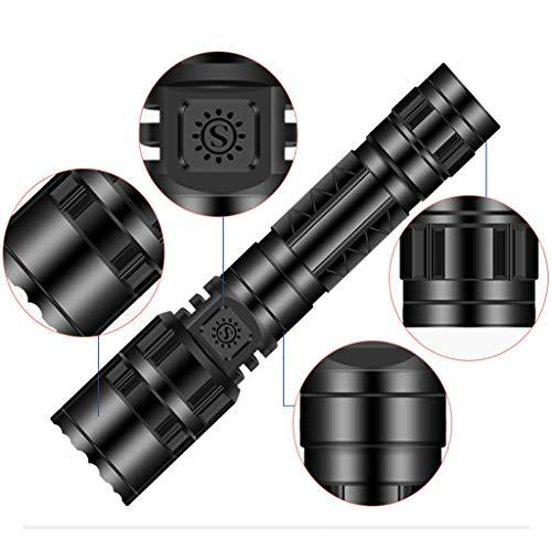 Miglior regalo !!! Beisoug Hot 50000LM T6 Tattico militare LED Torcia 18650 Torcia Carica diretta 5-Mode, Mid Size, Zoomable, Resistente all'acqua