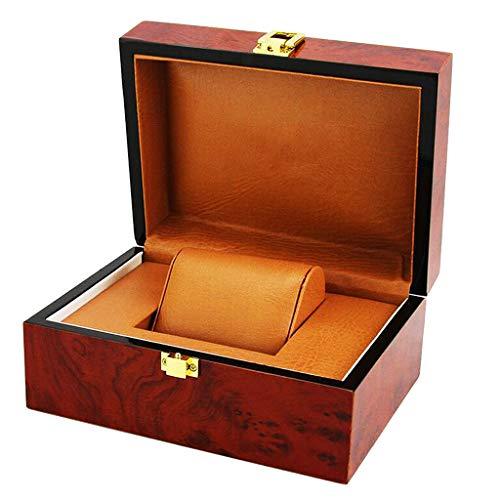 IPOTCH Caja De Almacenamiento De Reloj De Joyería De Madera Natural Rojo Vino Vitrina para Hombre Regalo De Cumpleaños De Viaje Home Organizer Case