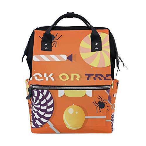 Sac à langer ALINLO Happy Halloween Trick or Treat Mummy Tote Bag Grande Capacité Multifonction Sac à dos pour Voyage