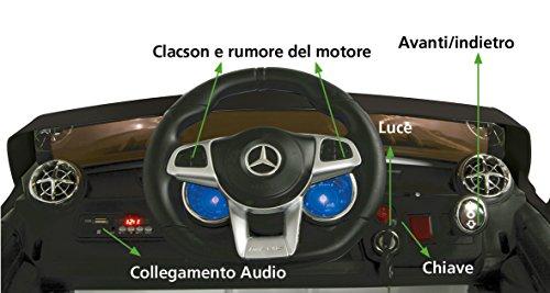 RC Auto kaufen Kinderauto Bild 3: Jamara 460295 Ride-on Mercedes SL65 schwarz 12V-Softanlauf, 2-Gang, Stoßdämpfer, SD-Slot, AUX-und USB-Anschluss, LED, Hupe,bis zu 90 Min. Fahrzeit,Ultra-Gripp Gummiring*