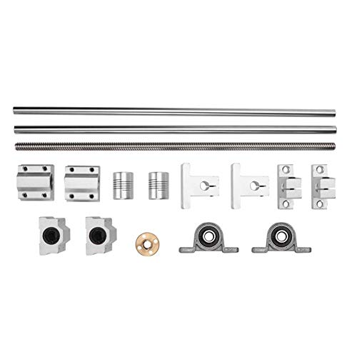 Screw Rod Kit 15PCS 30cm Printer Assembly Accessories for T-8 Guide Screw Rod Kit Coordinate Measuring Tools